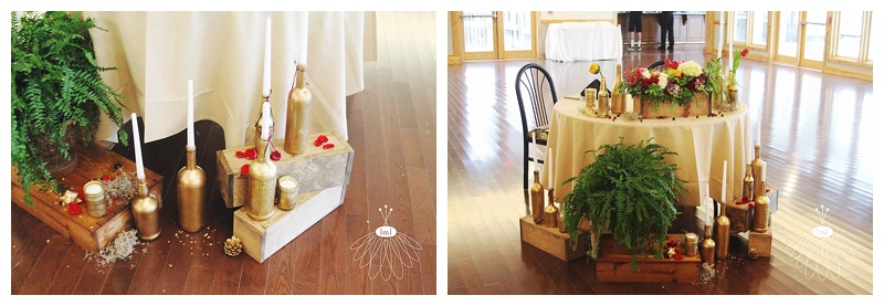 little miss lovely // berlin maryland wedding florist wine bottle sweetheart table candles