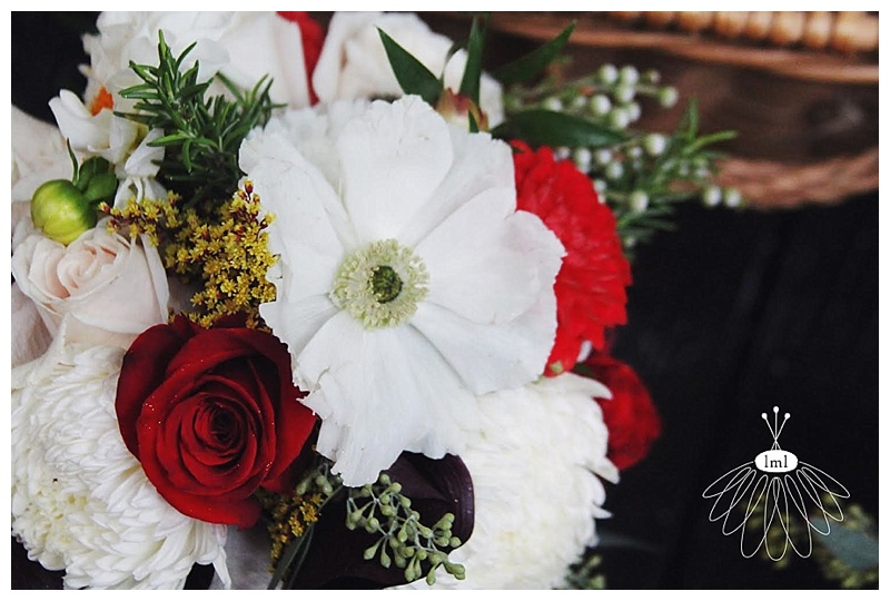 little miss lovely // berlin maryland wedding florist cranberry and ivory bouquets