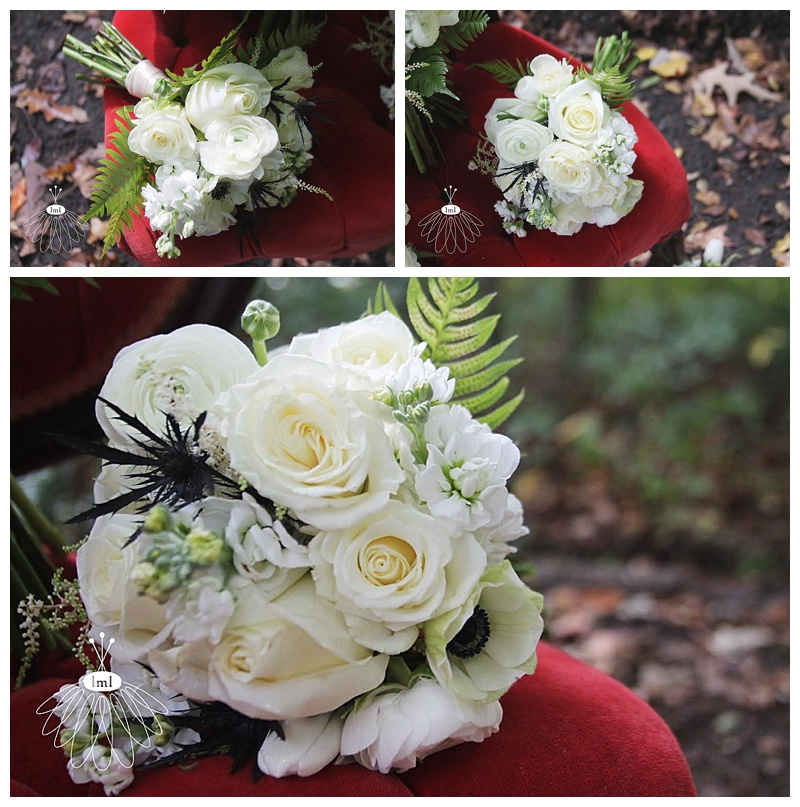 black and white wedding bouquets // little miss lovely // Ocean City Maryland wedding florist