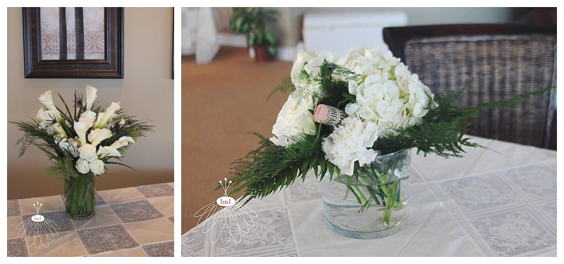 white ivory wine cork wedding centerpiece // little miss lovely // ocean city maryland wedding florist