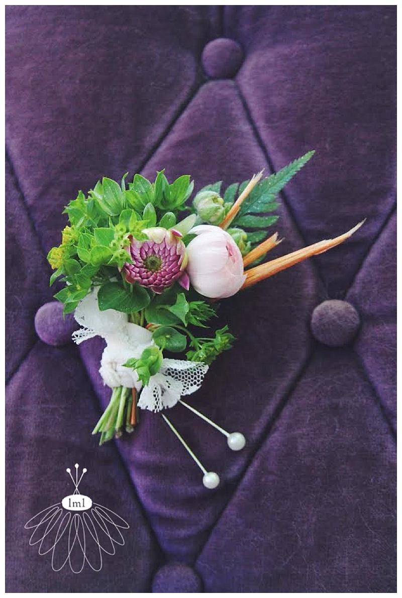 colorful beach wedding boutonniere // little miss lovely // ocean city maryland wedding florist