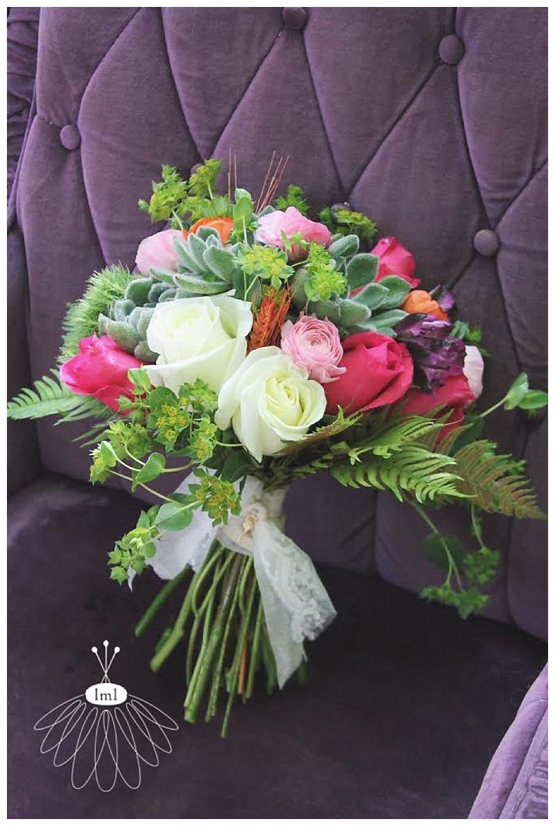 pink, purple, orange wedding bouquet // little miss lovely // ocean city maryland wedding florist // beach wedding