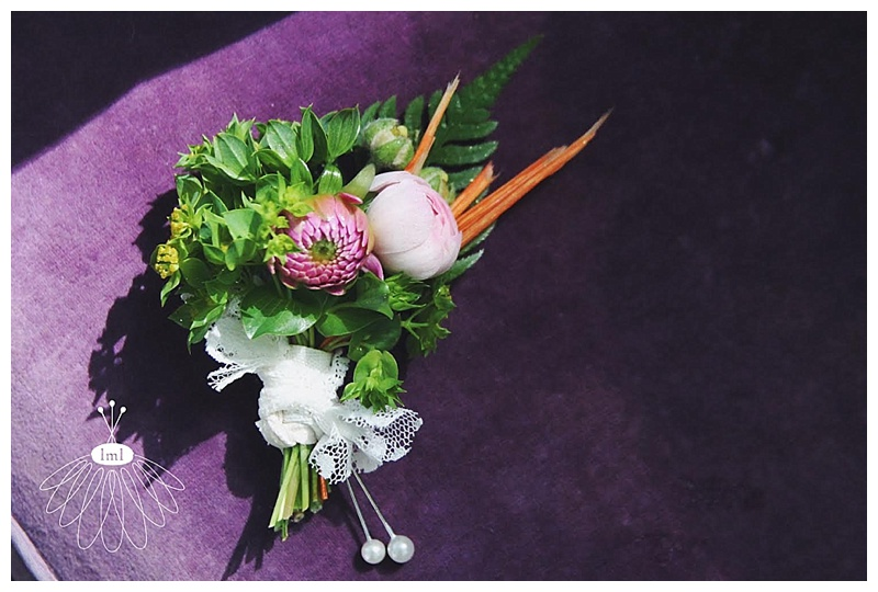 colorful beach wedding boutonniere // little miss lovely // ocean city maryland wedding florist