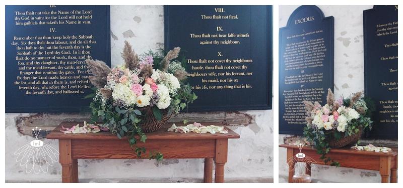 egg basket alter arrangement // historic st martins // little miss lovely // berlin md wedding florist