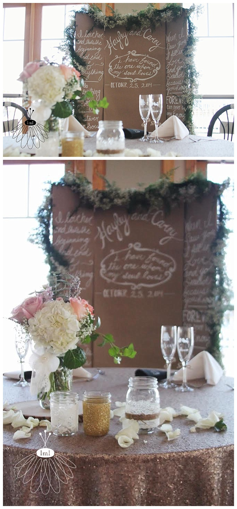gold sequin sweetheart table // little miss lovely // ocean pines md wedding florist