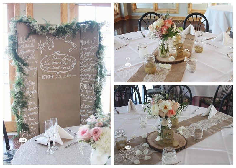 rustic mason jar centerpieces // ocean pines yacht club // little miss lovely wedding florist