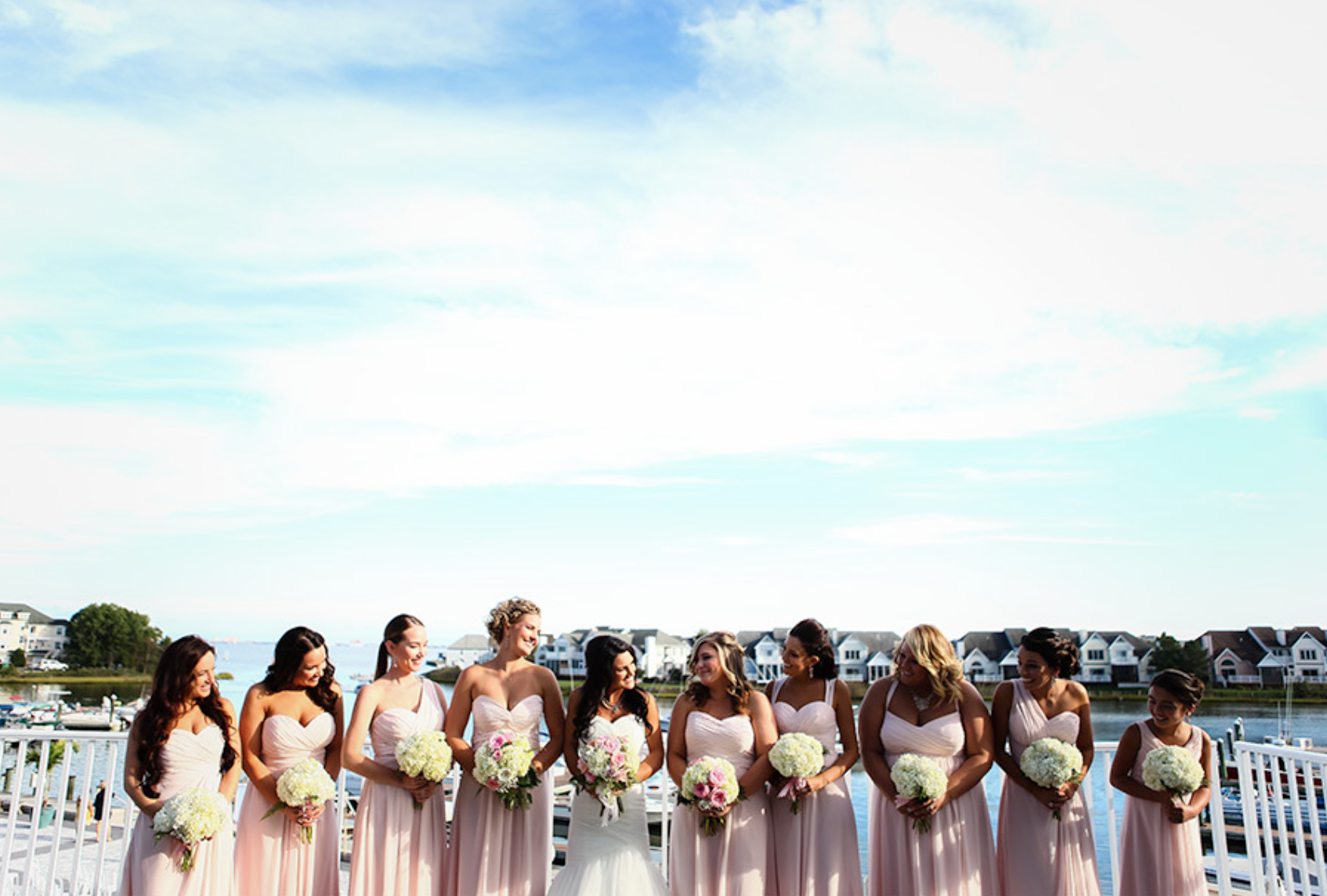 little miss lovely // ocean city wedding florist pink rose and hydrangea bouquet // photo by sarah murray photography