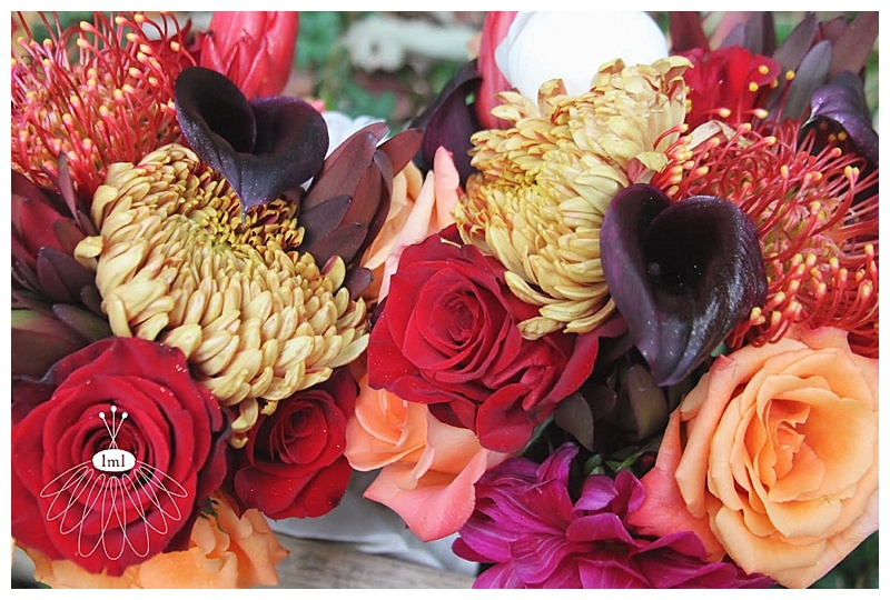 little miss lovely // autumn fall orange purple red wedding // baltimore wedding florist