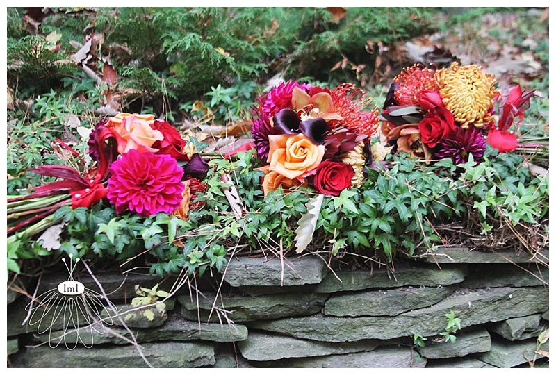 little miss lovely // baltimore maryland wedding florist // autumn wedding orchid and dahlia bouquet