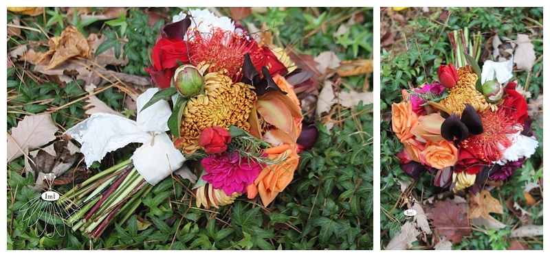 little miss lovely // baltimore maryland wedding florist // autumn wedding orchid and mum bouquet