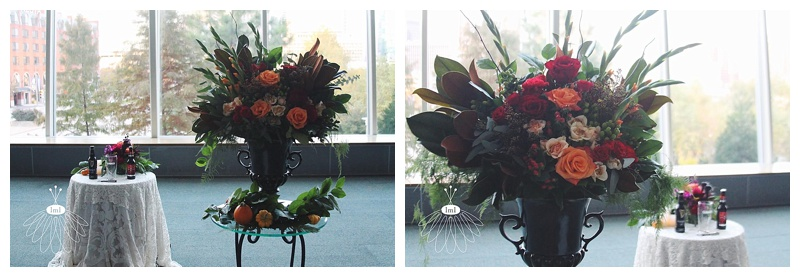 little miss lovely // baltimore md wedding florist // maryland science center wedding