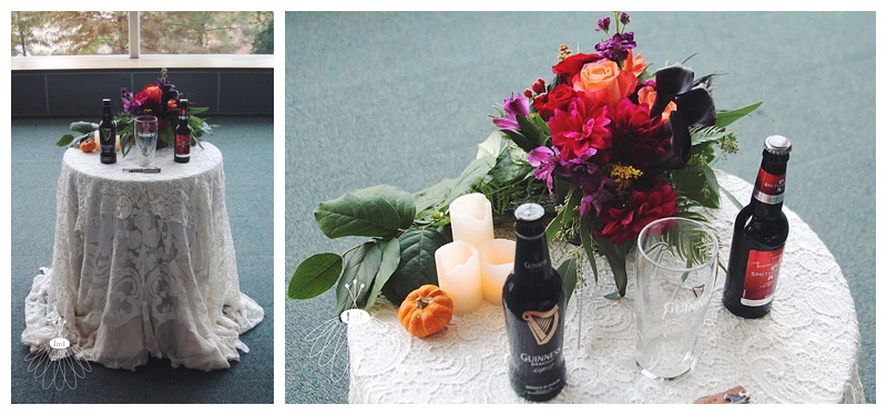 little miss lovely // baltimore md wedding florist // maryland science center wedding // beer unity ceremony