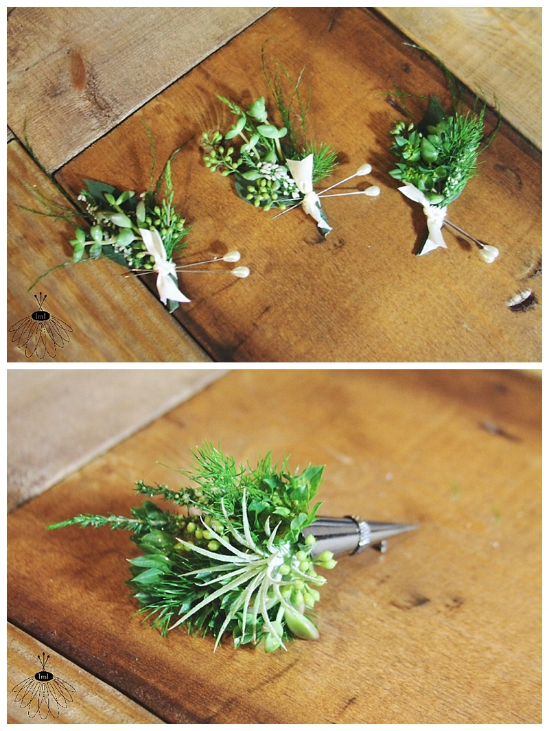 air plant and succulent boutonniere // little miss lovely berlin md wedding event florist