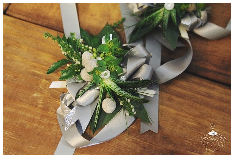 succulent greenery wrist corsage // little miss lovely west ocean city md wedding florist