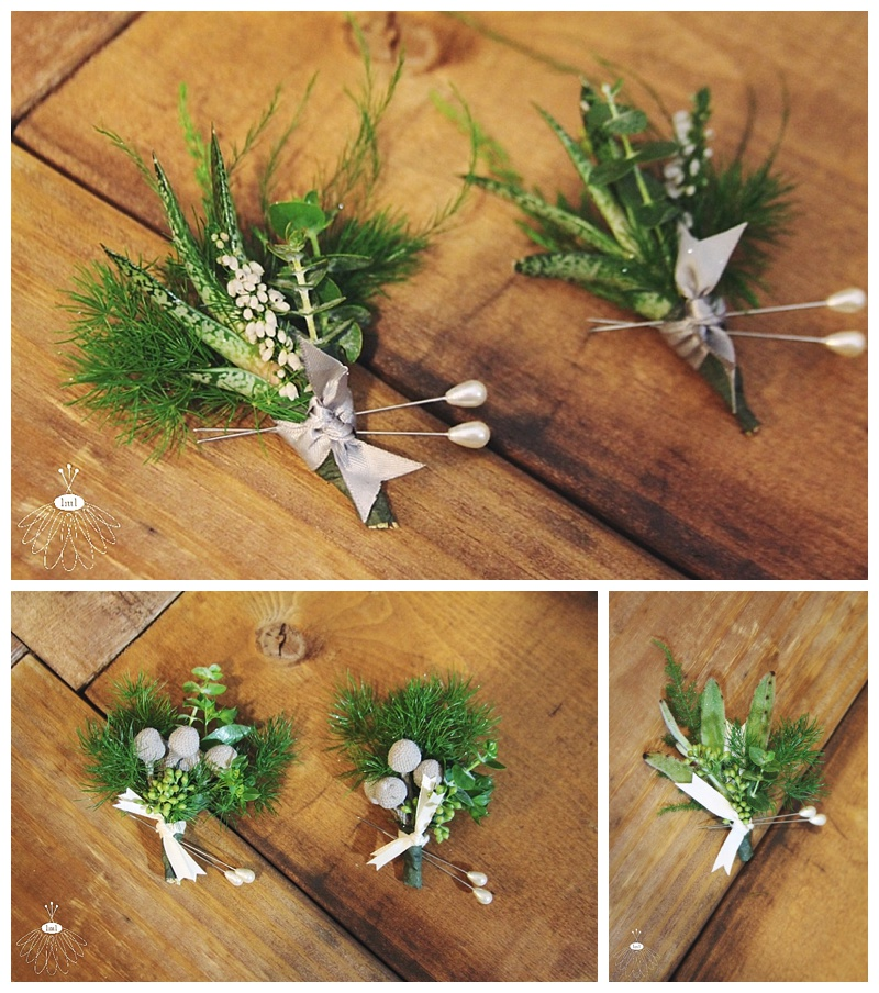 succulent greenery pin corsage // little miss lovely west ocean city md wedding florist