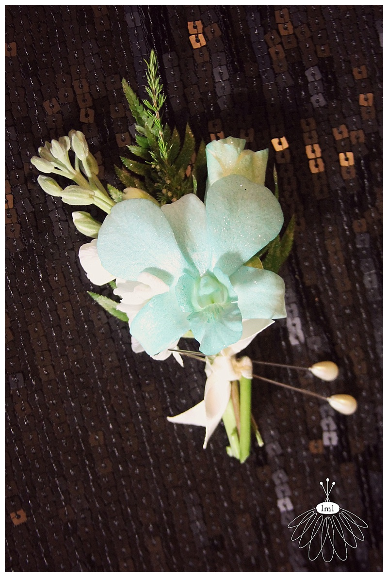 teal & white boutonnieres // little miss lovely berlin md florist