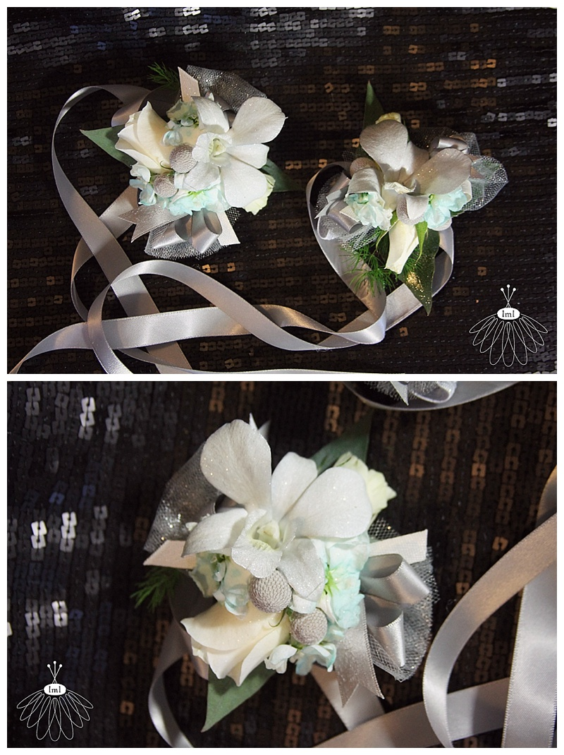 teal & white wrist corsages // little miss lovely berlin md florist