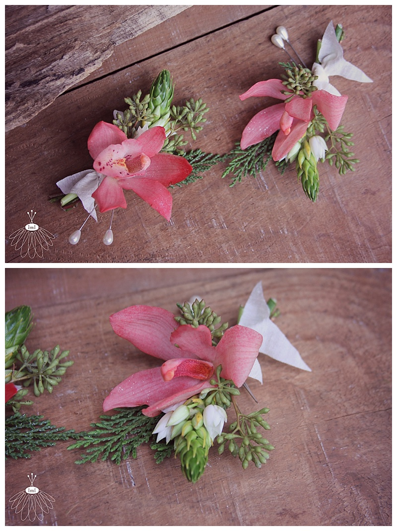 red orchid boutonnieres // little miss lovely floral design ocean city, maryland