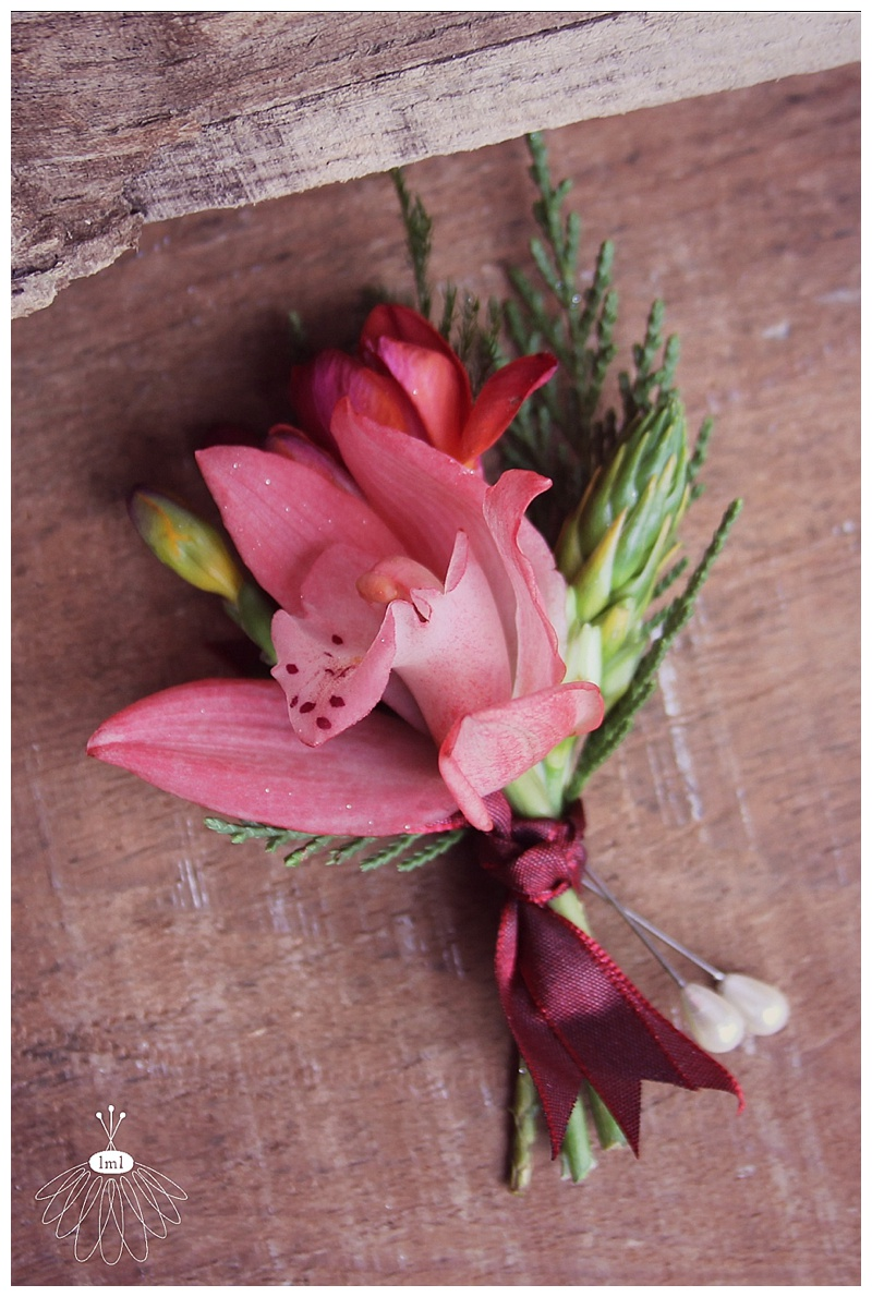red orchid groom boutonniere // little miss lovely floral design ocean city, maryland