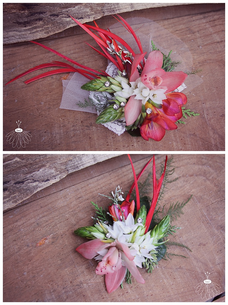 red and white winter wedding // hair flowers by little miss lovely floral design ocean city md