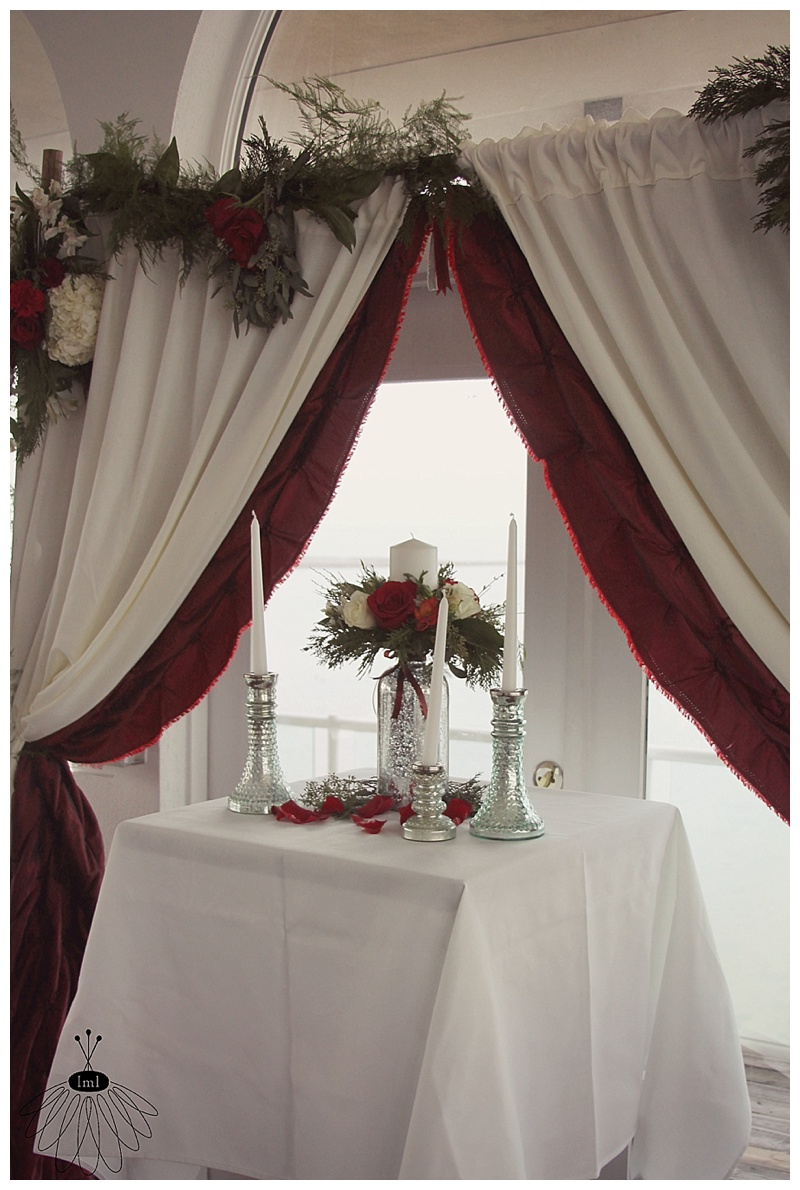little miss lovely floral design // fagers island wedding // winter red and white wedding