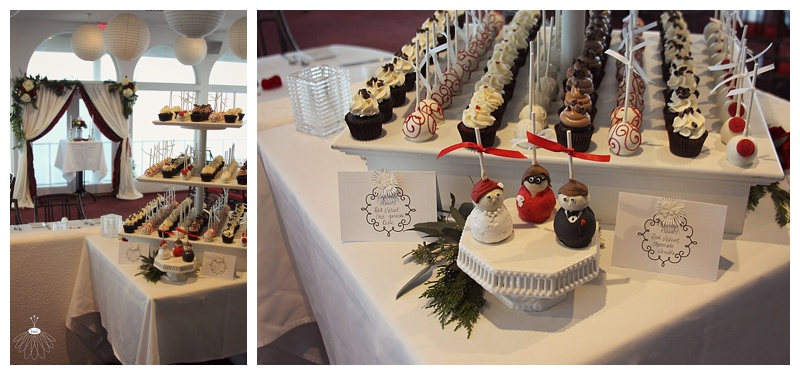 little miss lovely floral design // fagers island wedding ocean city maryland // cake pops by yummy sweet shop