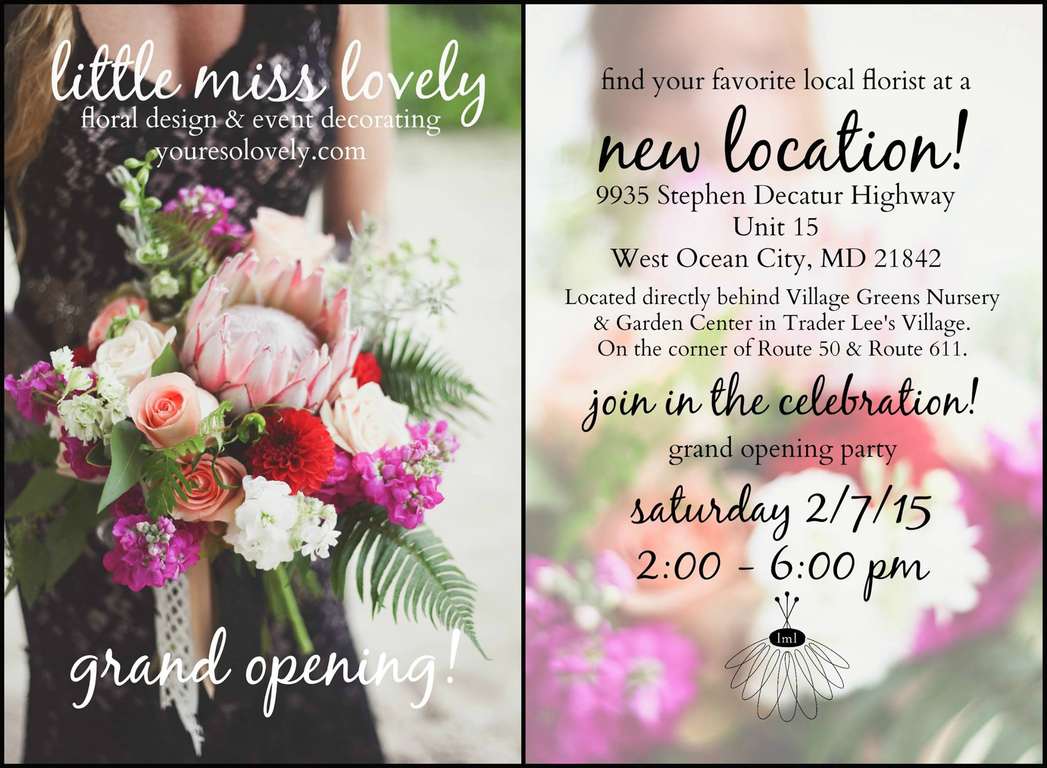 Grand Opening Celebration Little Miss Lovely Floral Design