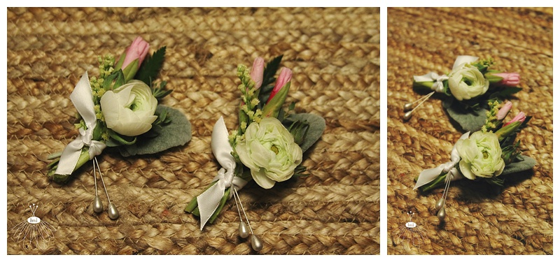 little miss lovely // ocean city maryland wedding florist // white ranunculus boutonnières