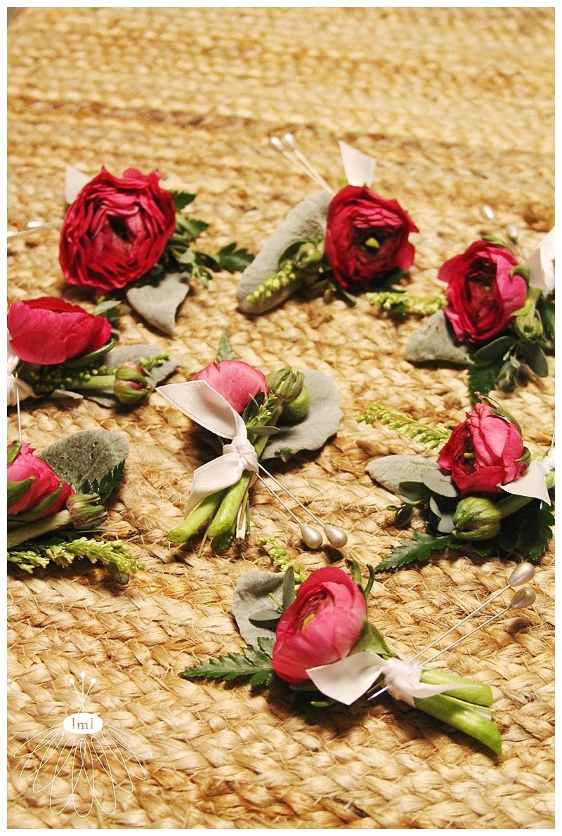 little miss lovely // ocean city maryland wedding florist // pink ranunculus boutonnières