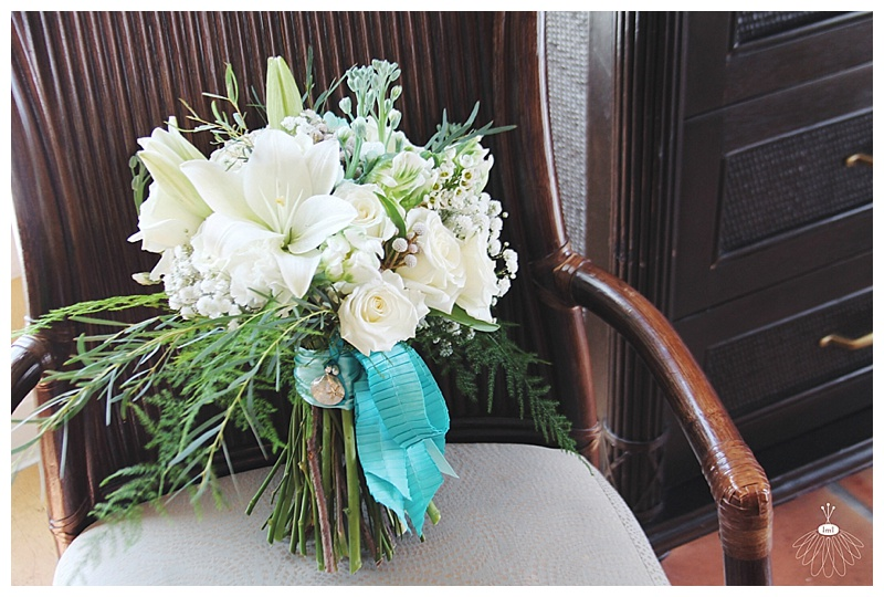 little miss lovely floral design // april wedding bouquet // white and tiffany blue bouquet // ocean city florist