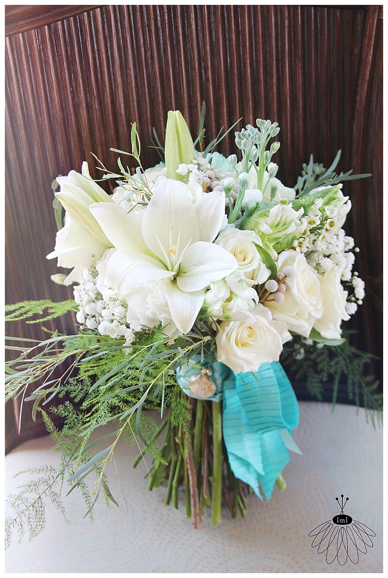 little miss lovely floral design // april wedding bouquet // white and tiffany blue bouquet // ocean city maryland florist