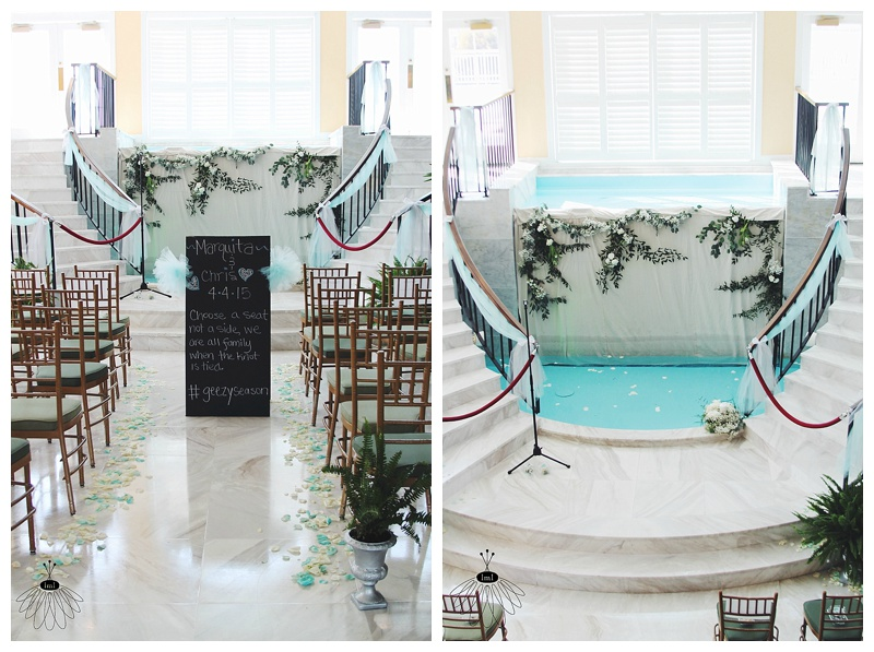 little miss lovely floral design // ocean city wedding florist // coconut malorie wedding // vine fountain ceremony backdrop