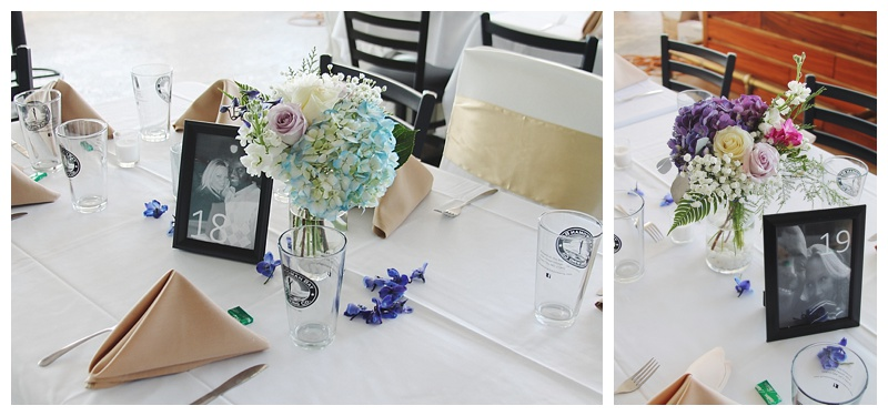 little miss lovely floral design // shallow waters ocean city md wedding reception