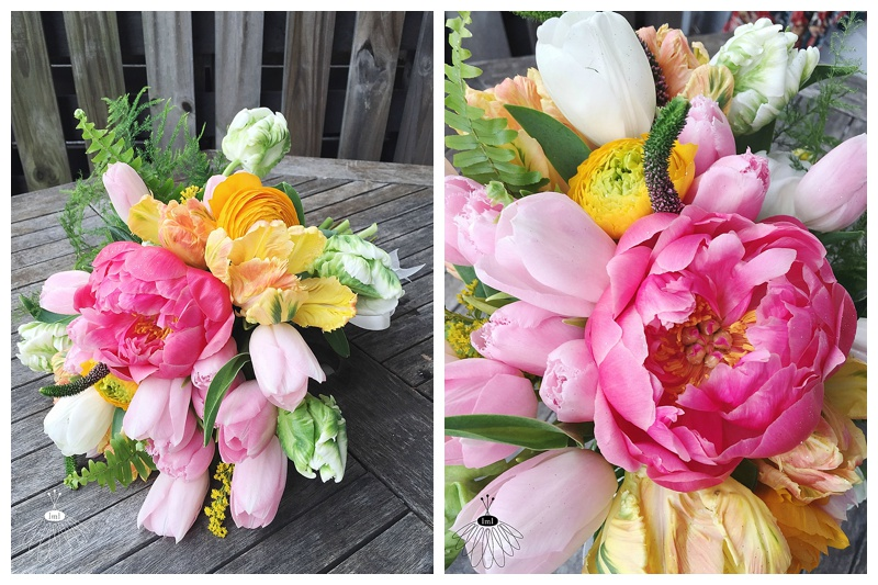 little miss lovely floral design // ocean city maryland florist // tulip and peony bouquet