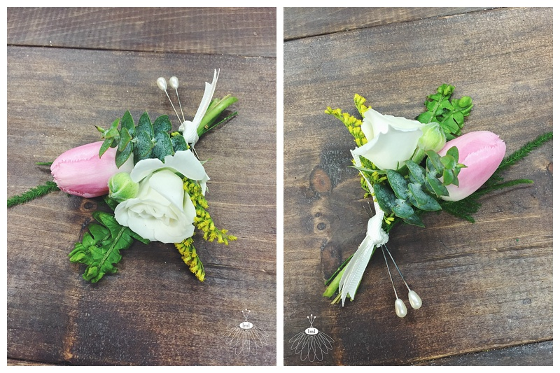 little miss lovely floral design // tulip and spray rose boutonniere // ocean city md