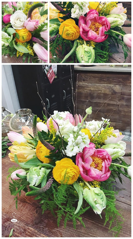 little miss lovely floral design // ocean city maryland wedding florist // peony and tulip wedding centerpiece