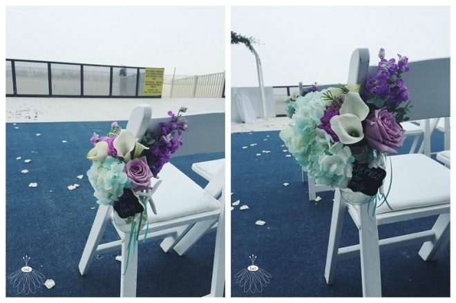 little miss lovely floral design // ocean city maryland wedding florist // aisle flowers in mason jars