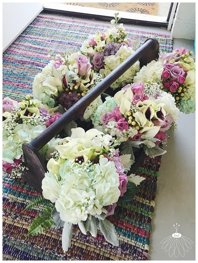 little miss lovely floral design // ocean city maryland wedding florist // teal purple bouquets