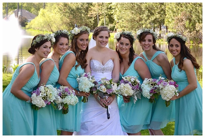 little miss lovely floral design // ocean city maryland wedding florist // teal purple bouquets and flower crowns