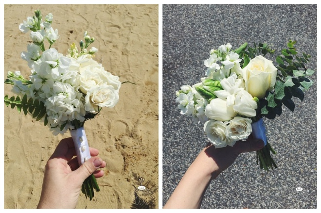 white and green mother posies posy // little miss lovely floral design // small bouquet for mothers