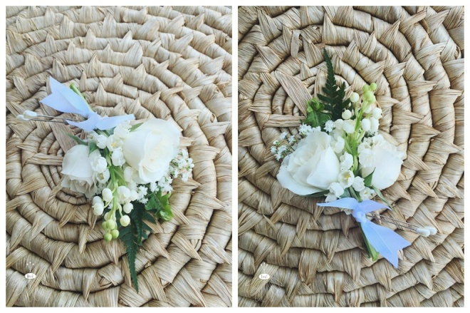 little miss lovely floral design // spray rose ivory boutonniere