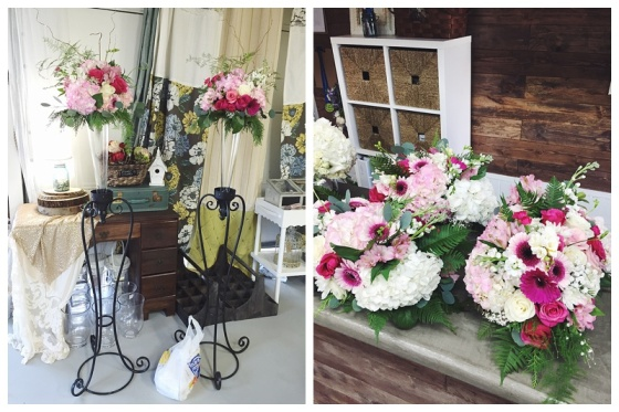little miss lovely // ocean city md event florist // greek orthodox baptism flowers