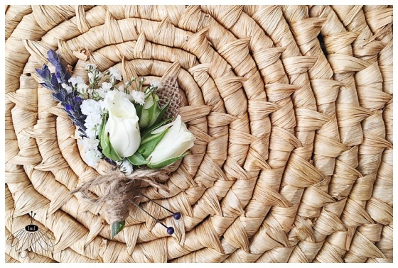 little miss lovely floral design // babys breath lavender boutonniere