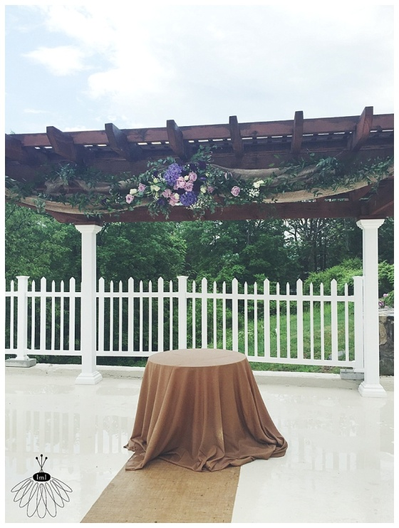 little miss lovely // mount pocono pa florist // pocono wedding florist // purple and white wedding flowers