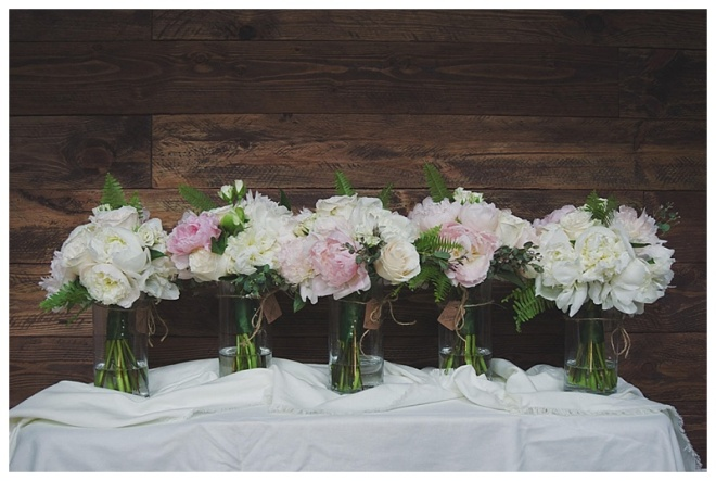 little miss lovely floral design // peony and garden rose bouquet // pink and olive wedding //  Bordeleau Vineyard Winery