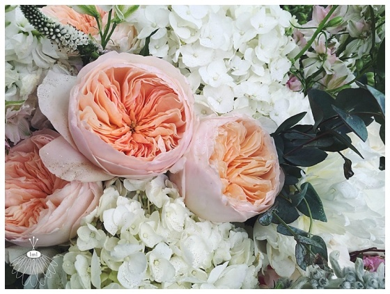 little miss lovely // salisbury maryland wedding florist // poplar hill mansion wedding // garden roses and hydrangea