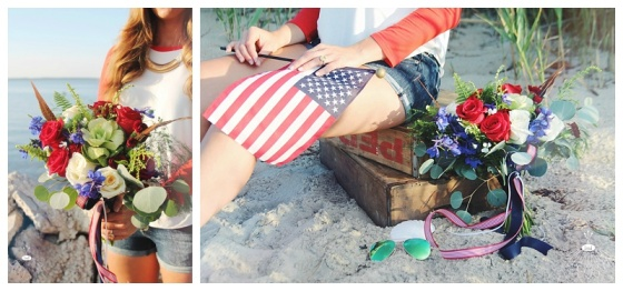 little miss lovely floral design // independence day celebration flowers // ocean city maryland