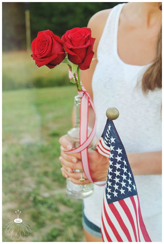 little miss lovely floral design // patriotic fourth of july style // ocean city md