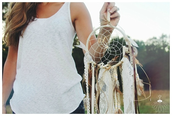 little miss lovely // hand made dream catcher // feathers and seashells // ocean city maryland
