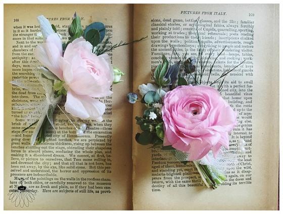 little miss lovely floral design // wedding florist // pink ranunculus garden boutonniere with mint